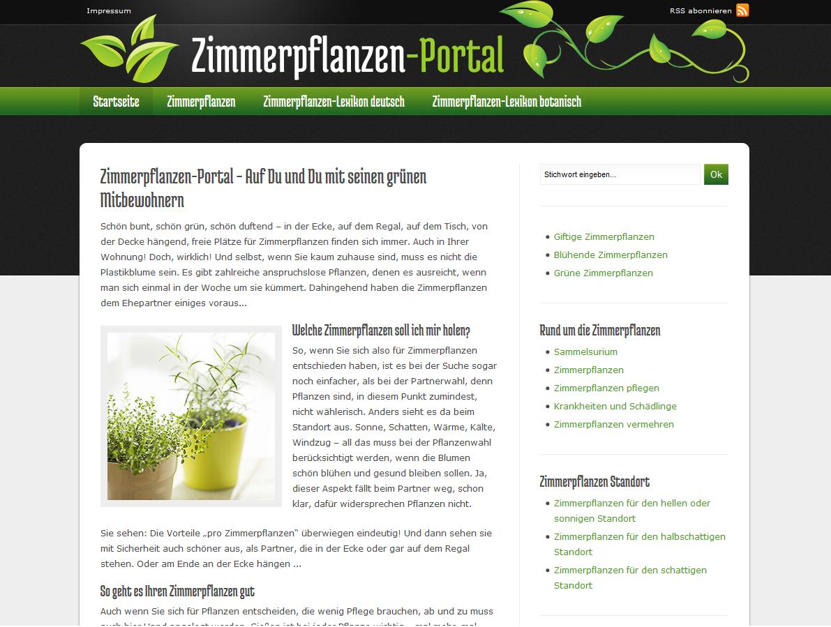 Screen-Zimmerpflanzen